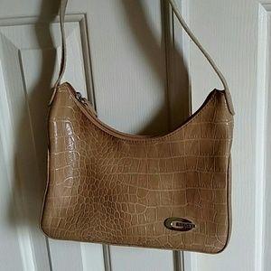 Gianini faux alligator purse, used once, like new